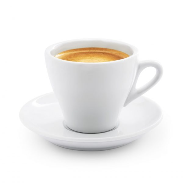 Caffe espresso isolated on white + Clipping Path